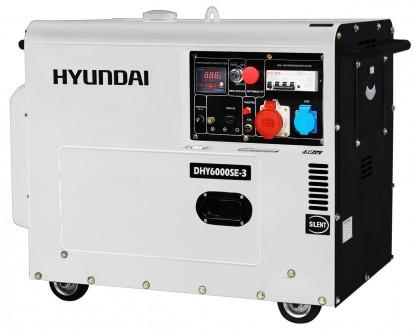 Дизельный генератор Hyundai DHY 6000SE-3 - это мощная и надежная, удобная в обр. Киев, Киевская область. фото 2