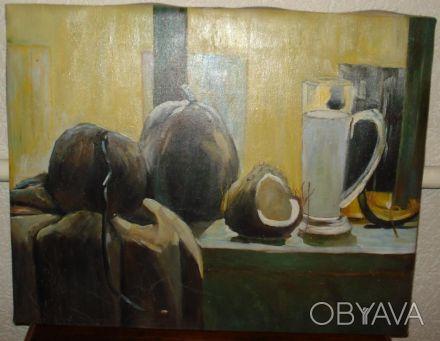 артина написанная маслом на холсте. Размер 40х50 см. Картина на подрамнике. П. Одесса, Одесская область. фото 1