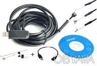 Эндоскоп, бороскоп, видеокамера, USB камера - диам. 5,5 мм + OTG кабель. Вышгород. фото 1