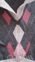 Продам свитер на девочку,р.140,б/у,имитация с белой блузкой,основной цвет-серый,. Чернигов, Черниговская область. фото 4