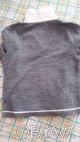 Продам свитер на девочку,р.140,б/у,имитация с белой блузкой,основной цвет-серый,. Чернигов, Черниговская область. фото 5