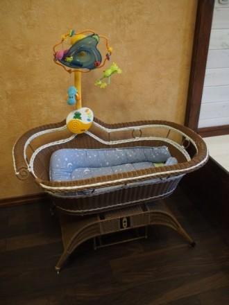 Кроватка-качалка, колыбель, ліжко-гойдалка. Киев. фото 1