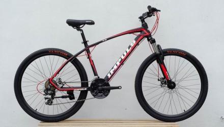 """Велосипед Impuls Santa 26"""" цвет черно-красный диаметр колес 26"""" размер рамы 1. Киев, Киевская область. фото 2"""