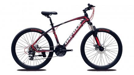 """Велосипед Impuls Santa 26"""" цвет черно-красный диаметр колес 26"""" размер рамы 1. Киев, Киевская область. фото 6"""