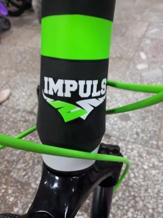 """Велосипед Impuls Morgan 26"""" цвет черно-салатово-белый диаметр колес 26"""" разме. Киев, Киевская область. фото 7"""