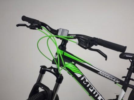 """Велосипед Impuls Morgan 26"""" цвет черно-салатово-белый диаметр колес 26"""" разме. Киев, Киевская область. фото 3"""