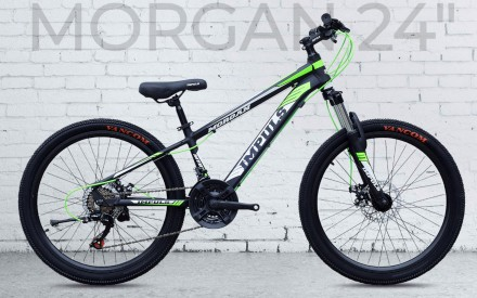"""Велосипед Impuls Morgan 26"""" цвет черно-салатово-белый диаметр колес 26"""" разме. Киев, Киевская область. фото 2"""