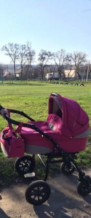 Коляска Anmar Marsel 2в 1 розового цвета от 0 и до 3-х лет.. Бахмут (Артемовск). фото 1