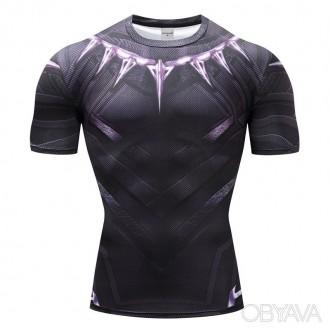 Рашгард мужской, футболка punisher (каратель) для спорта фитнеса. Днепр. фото 1