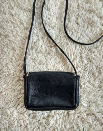 fe3c4ccc7ba4 Маленькая черная натуральная кожаная сумочка,ключница,кошелек Ha ge we  Hamburg.h.