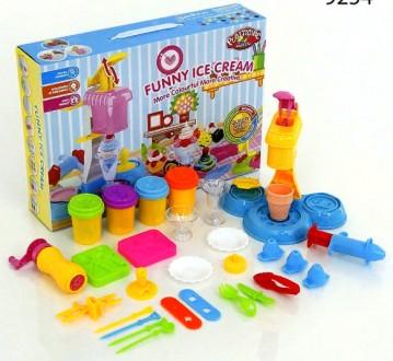 Набор теста для лепки Plasticine Magical Забавная фабрика мороженого. Днепр. фото 1