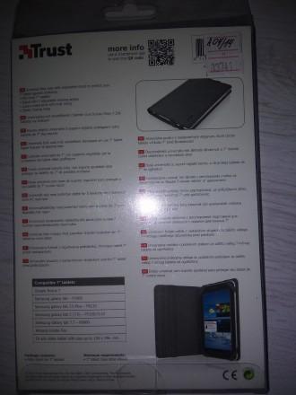 """TRUST Universal 7"""" - Folio Stand for tablets Black Универсальная обложка с регу. Луцк, Волынская область. фото 6"""