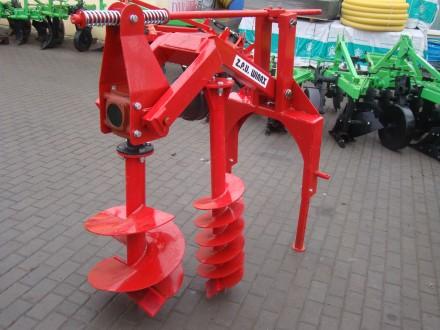 Бур навесной к трактору Wirax - 2 шнека (50 см, 25 см) (Польша). Киев. фото 1