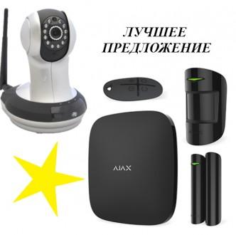 Комплект сигнализации Ajax StarterKit black + IP-видеокамера Hikvision. Киев. фото 1