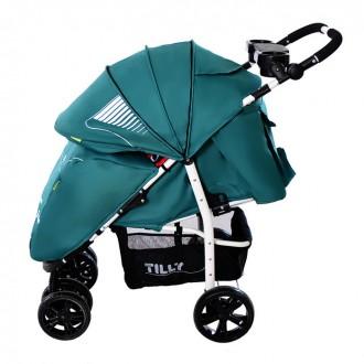 Коляска прогулочная Tilly Avanti Т-1406, зеленая. Свалява. фото 1