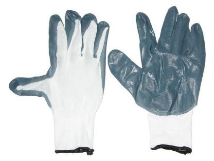 Перчатки рабочие 0690 прорезиненные маслобензостойкие сер бел fb30444028a04