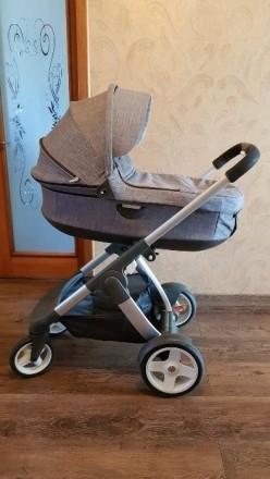 Продам детскую коляску Stokke Crusi 3 в 1 в идеальном состоянии.. Голая Пристань. фото 1