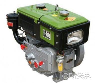 Двигатель ZUBR SH190NDL (дизель, электростартер, водяное охлаждение, 10 л.с.)Т. Киев, Киевская область. фото 1