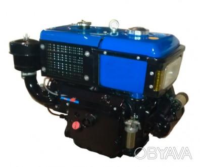Двигатель ZUBR SH195NDL (дизель, электростартер, водяное охлаждение, 12 л.с.)М. Киев, Киевская область. фото 1