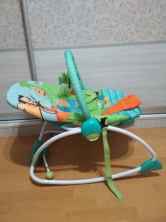 Кресло качалка, шезлонг для ребенка. Борисполь. фото 1