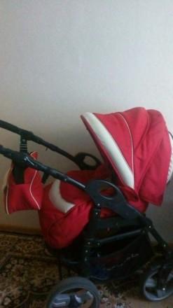 Детская коляска в хорошем состоянии 2 в 1 полный комплект- люлька.... Сумы. фото 1