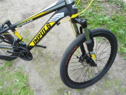 """Велосипед Impuls Morgan 24"""" Импульс Морган   цвет Черно-желто-серыйцве Диаме. Киев, Киевская область. фото 9"""