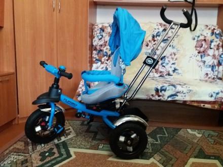 Продам трехколесный велосипед Turbo Trike М-3193 с надувными колесами. Обухов. фото 1