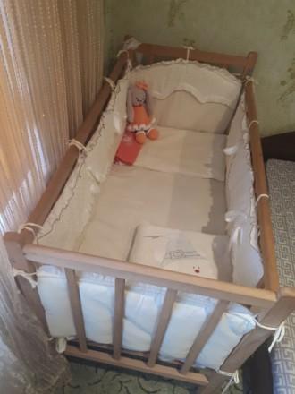 Детская кроватка-манеж. Дружковка. фото 1