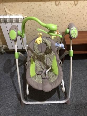 Кресло-качалка CARRELLO Nanny CRL-0005 Green Dot. Херсон. фото 1