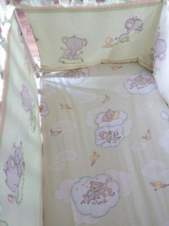Защита для кроватки+постельное белье (бортики, захист). Белая Церковь. фото 1