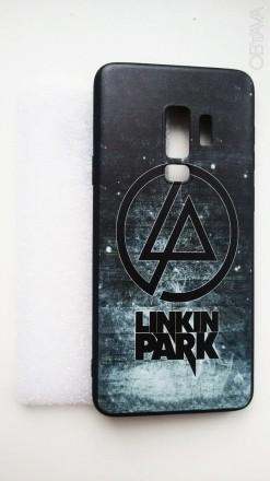 Чехол для Samsung S9+ силиконовый глянцевый«Linkin park». Александрия. фото 1