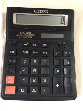 Калькулятор CITIZEN SDC888T, б/у, в рабочем состоянии, без торга.. Хмельницкий, Хмельницкая область. фото 2
