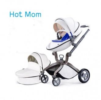 Hot mom коляска,кожа. Канев. фото 1
