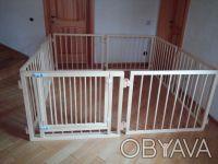 Манеж детский деревянный на 8 секций с воротами. Киев. фото 1
