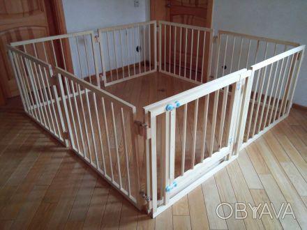 Качественный деревянный манеж-конструктор будет любимым и безопасным местом для . Киев, Киевская область. фото 1