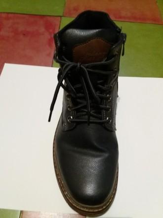 Продам ботинки зимние на меху. Темного синего цвета, на шнурке и молнии сбоку. З. Днепр, Днепропетровская область. фото 5