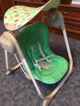 Продам б/у кресло-качалку Chicco Polly Swing Up. Херсон. фото 1