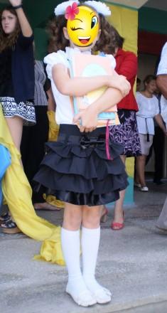 Юбочка школьная с рюшами . 5 - 6 класс. Одесса. фото 1