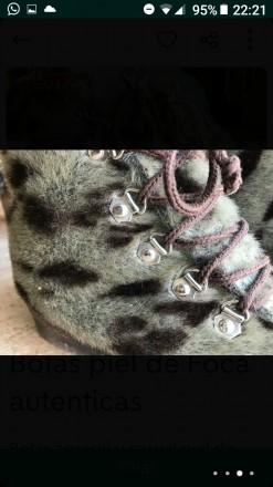 Взуття із шкіри тюленя, утеплені овчиною Ручна робота Європа Розмір 39 За по. Киев, Киевская область. фото 3