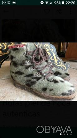 Взуття із шкіри тюленя, утеплені овчиною Ручна робота Європа Розмір 39 За по. Киев, Киевская область. фото 1