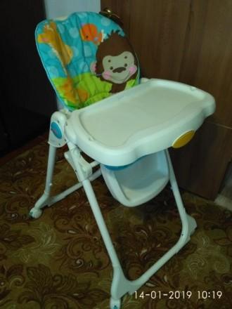 """Стульчик для кормления """"Голубая планета"""" Fisher Price Высокий стул для кормления. Слов'янськ, Донецька область. фото 4"""