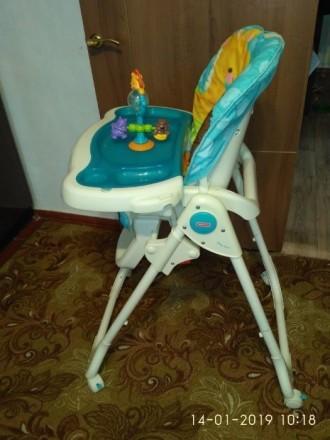 """Стульчик для кормления """"Голубая планета"""" Fisher Price Высокий стул для кормления. Слов'янськ, Донецька область. фото 3"""