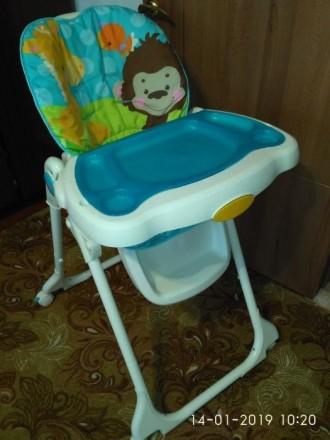 """Стульчик для кормления """"Голубая планета"""" Fisher Price Высокий стул для кормления. Слов'янськ, Донецька область. фото 5"""
