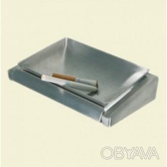 Современный дизайн пепельницы подчеркивает  материал – нержавеющая сталь с  сати. Киев, Киевская область. фото 1