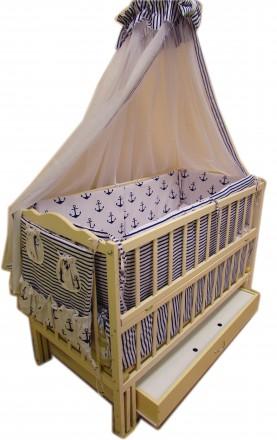 Акция! Комплект для сна! Кроватка маятник, ящик, матрас кокос, постель. Харьков. фото 1