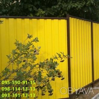 Профнастил Желтого Цвета 1018 отличный выделяющий цвет для облицовки зданий, стр. Киев, Киевская область. фото 1
