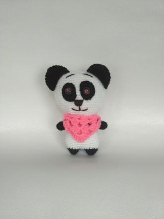 Мягкая Вязаная игрушка Панда ручной работы. Славута. фото 1