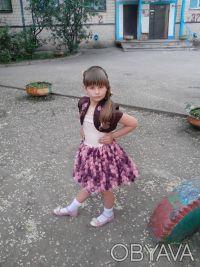 """шикарное, выпускное детское платье """"пачка"""" на 6 лет,корсетное,ткань классная, по. Кривой Рог, Днепропетровская область. фото 2"""