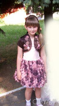 """шикарное, выпускное детское платье """"пачка"""" на 6 лет,корсетное,ткань классная, по. Кривой Рог, Днепропетровская область. фото 4"""
