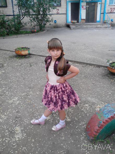 """шикарное, выпускное детское платье """"пачка"""" на 6 лет,корсетное,ткань классная, по. Кривой Рог, Днепропетровская область. фото 1"""